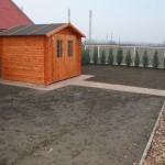 faház alapozás és térkövezés